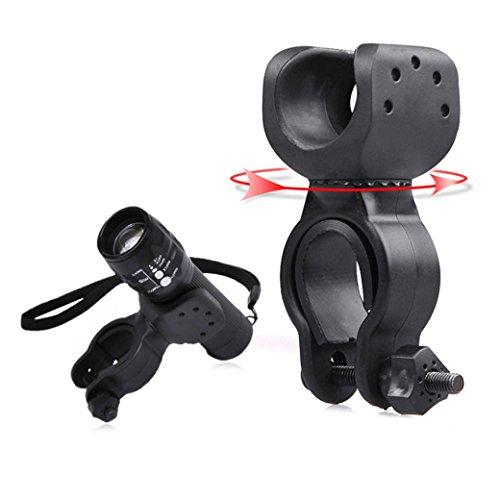 VESNIBA Torch Clip Mount Bicycle Front Light Bracket Flashlight Holder 360°Rotation