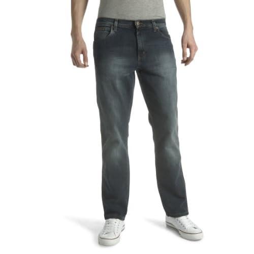 Encantador Wrangler Ropa de Hombre Azul Pantalones vaqueros