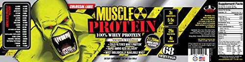 Goliath Labs 100% Whey Protein, Cold Filtered Whey Protein - Rapid Amino Acid Delivery - Natural Vanilla for a Rich Flavor - 5 Po