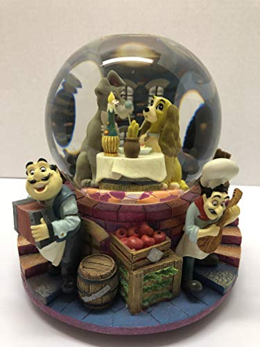 Lady & The Tramp Spaghetti Scene Belle Notte Snow Globe