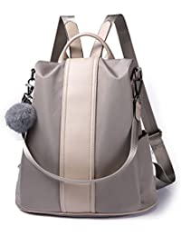 Women Backpack Purse Waterproof Nylon Anti-theft Rucksack...