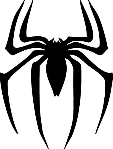 All About Families BLACK SPIDER MAN SPIDER MARVEL STICKER ~ Die Cut for tuck car windows laptop phone case bumper yeti cup mugs helmet car door wall decoration ~ 3
