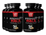 Natural Maca Root Extract 1300mg To Increase Energy, Stamina and Boost Fertility and Libido (6 bottles 360 tablets)