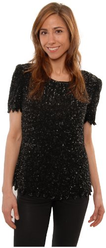 Heavily Sequined Top for Plus Sizes (1X)
