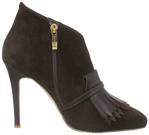 Fersengold Oslo - botas de cuero mujer marrón - Braun (Dk.Braun)