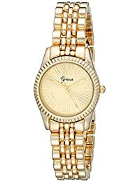 Geneva Women's 2441B-GEN Analog Display Analog Quartz Gold Watch