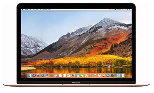 Apple MacBook 12in Retina 2017 (Newest Version) 256GB SSD / 8GB RAM – Rose Gold (Renewed)