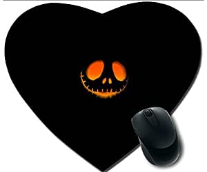 Hot Heart-Shaped Comfortable Mouse Pad - Customizable Printed On The Night And Pumpkin Faces Durable Cool Game Mouse Pad by icecream design