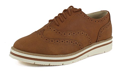 Soda Womens Casino Oxford Cognac 8.5 B (m) Noi