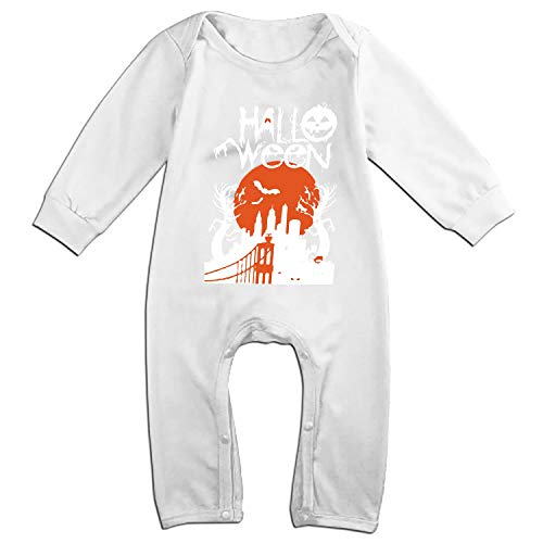 ZGGGB Halloween Cartoon for Invitations Baby Girl Summer Clothes Long Sleeve Onesies Romper Home Outfit