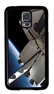 ka ka case unique Individuality Rugged Samsung Galaxy S5 Case and Cover - Nasa Shuttle In Orbit Custom Design PC Case Cover for Samsung Galaxy S5 - Black