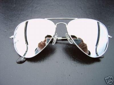 ray ban pilotenbrille gespiegelt