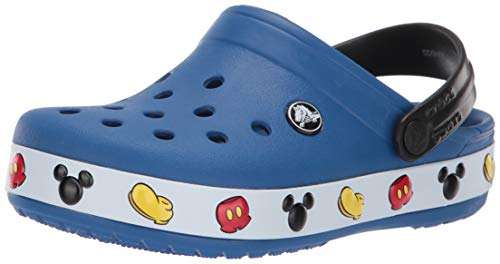 Crocs Baby Crocband Mickey Clog, Blue Jean, 7 M US Toddler
