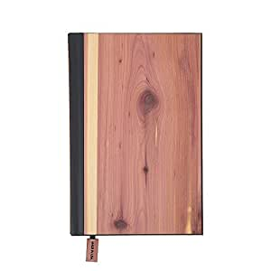 WOODCHUCK Wood Cover Journal 8.5x5 Inches, Cedar, Lined Pages -100% Recycled Paper