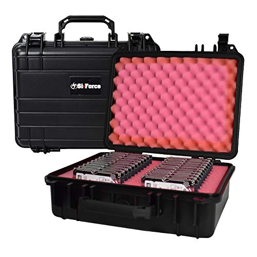 SiForce Drive Transporter Case S20 Rugged Case with Pink Anti-Static Foam for 20 Internal 2.5 inch HD Drives
