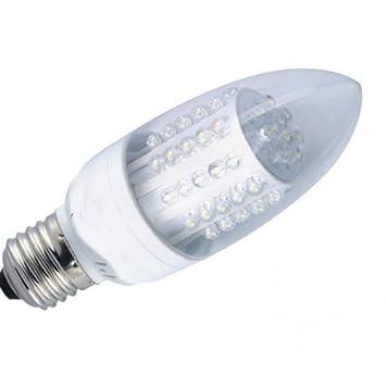 E27 VELA LED de 3 vatios BOMBILLA 60W equivalente E27 C35 blanco frío: Amazon.es: Electrónica