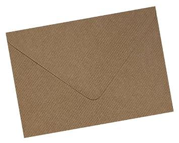 Mayfair Crafts - 100 x A6 C6 Brown Ribbed Kraft Premium Envelopes
