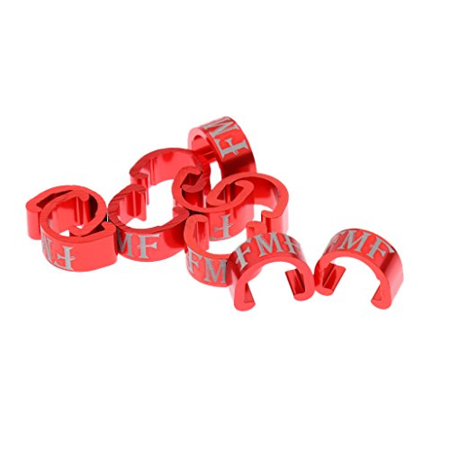 Dolity 10Pcs Pack of Cable Housing C-Clips Buckle for MTB Road Bicycle Frames Clamp Black, Red, Blue, Gold, Silver - (Bike Buckle)