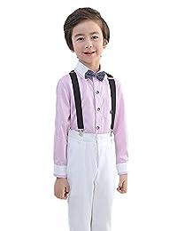 Liveinu 4 Piece Boy Formal Tuxedo Waistcoat Outfit Suit