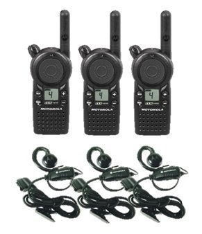 3 Pack of Motorola CLS1410 Two Way Radio Walkie Talkies with