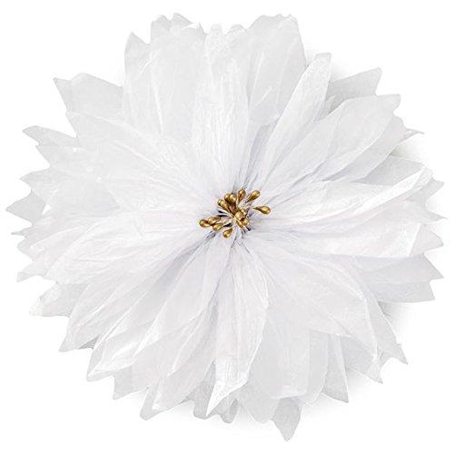 (Hallmark Christmas Gift Trim - Tissue Poinsettia Bow (White))