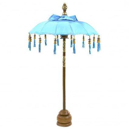 Amazon Com Koyal Wholesale Bali Umbrella Stand 34 Inch Turquoise