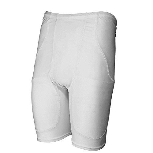 Rawlings Youth 5-Pocket Football Girdle (White, (6 Pocket Football Compression Girdle)