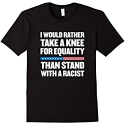 Mens Take a Knee for Equality! Anti Trump T-Shirt 2XL Black
