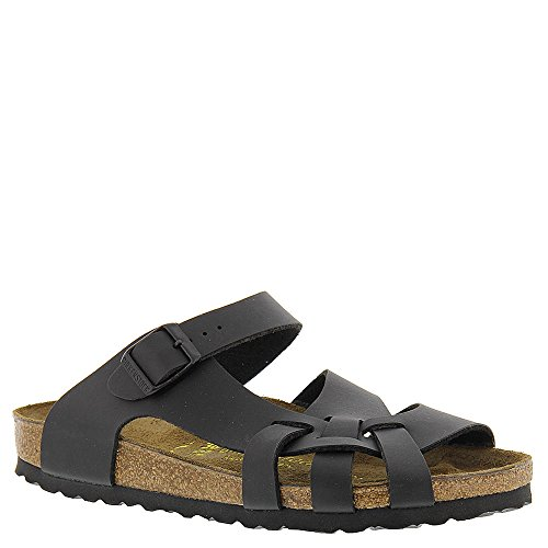 Birkenstock Pisa (Unisex), Black Birko-Flor?, 38 (US Men's 5-5.5, US Women's 7-7.5) Narrow