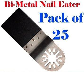 """10 Bi-Metal /""""Nail Eater/"""" Oscillating Saw Blades Rigid Job Max  Compatible"""
