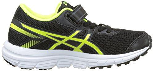 Asics Gel-Zaraca 5 PS, Zapatillas de Entrenamiento Unisex Bebé Negro (Black/safety Yellow/white)