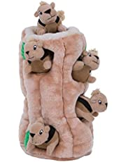 Outward Hound Hide A Squirrel Dog Toy Plush Dog Squeaky Toy Puzzle, 7 Piece, Ginormous