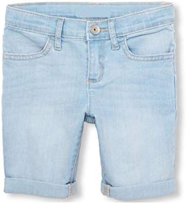 Off The High Street Girls Denim Shorts Kids Casual Summer Holiday Light Blue Roll-Cuff Skimmer Short