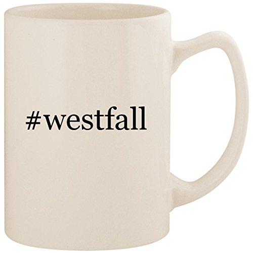 (#westfall - White Hashtag 14oz Ceramic Statesman Coffee Mug Cup)