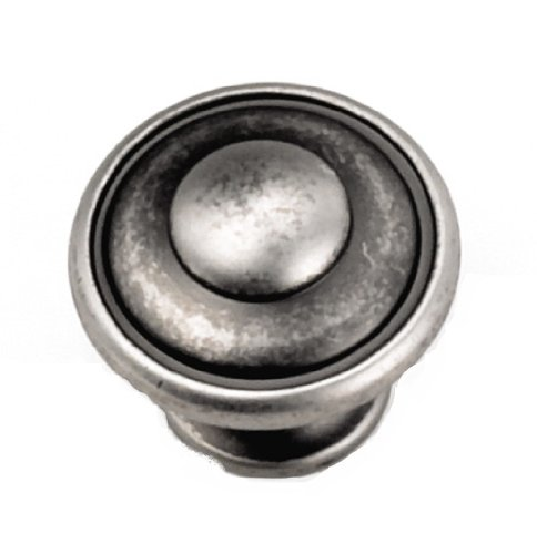 Laurey 24106 1.13 in. Button Top Knob - Antique Pewter