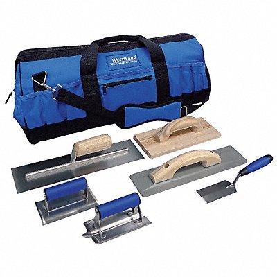 Westward 13A756 Concrete Apprentice Tool Kit, 7 Pc
