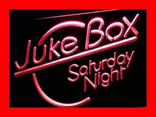 ADVPRO Cartel Luminoso i328-r Juke Box Saturday Night Bar ...