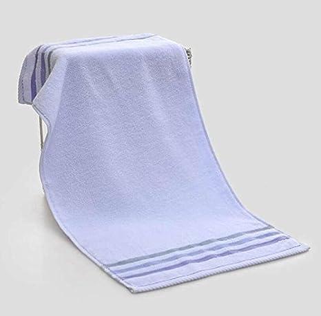 LJ&L Toalla de baño de color amarillo satinado de algodón beige, rosa, azul toalla