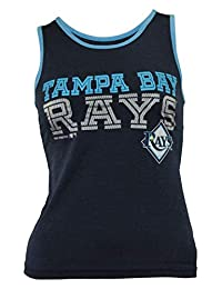 Outerstuff MLB Youth Girls Tampa Bay Print Logo Tank Top