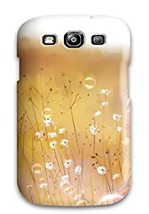 New Premium KcajrAK9532vaFUM Case Cover For Galaxy S3/ Anime Flowers Bubbles Mood Original Protective Case Cover