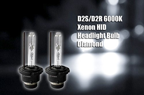 Zone Tech D2S/D2R 6000K Xenon HID Headlight Bulb Diamond-White Pack of 2