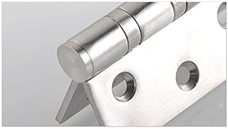 Charni/ère BB 7,6 cm Chrome satin/é