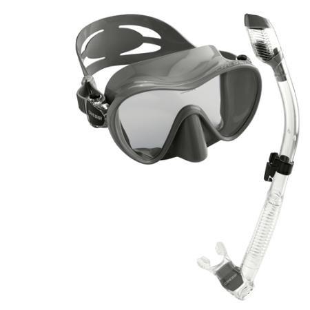 Cressi Scuba Diving Snorkeling Freediving Mask Snorkel Set, Titanium by Cressi