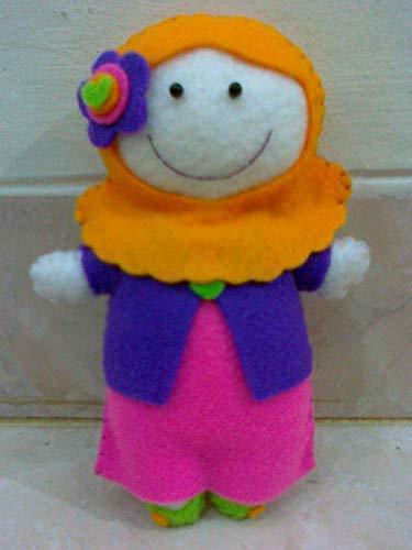 Muslim Doll Muslim Felt Doll With Orange Hijab Hijabi Doll Girls Eid Gift