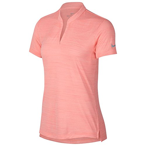 Nike Zonal Cooling Shortsleeve Summer Jacquard Golf Polo 2018 Women Light Atomic Pink/Flat Silver Small