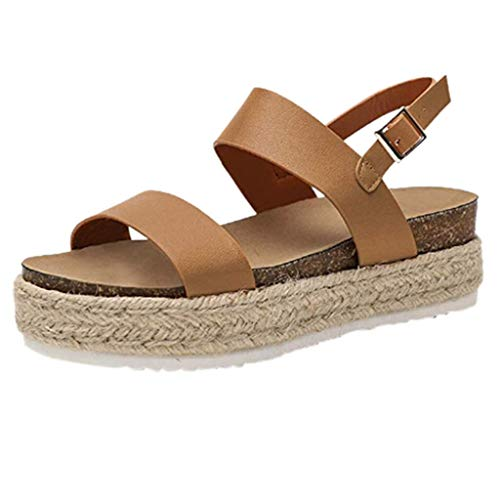 ONLYTOP_Shoes Platform Espadrilles for Women,ONLYTOP Women Fashion Open Toe Platform Sandals Shoes Casual Summer Wedge Ankle Strap Khaki