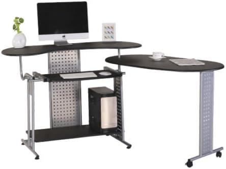 Mesa Ordenador PC Escritorio Esquina Oficina con Ruedas ...