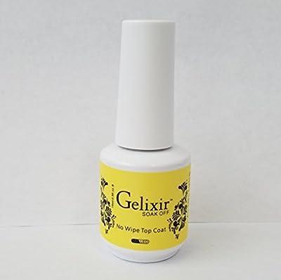 GELIXIR - Soak Off Gel Base & No-Wipe Top Coat - .5 Oz / 15 mL
