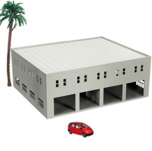 EatingBiting(R)DIY 1:100 Outland Models Train Railway Garage / Logistics Centre N HO OO Scale Landscape for Sand Table Garden Micro Landscape Ornaments Decor