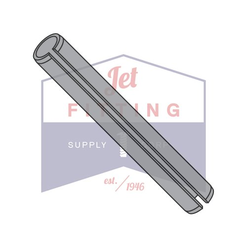 3/8'' x 2 1/2'' Roll (Spring) Pins / Steel / Plain (QUANTITY: 200 pcs) Made in USA by Jet Fitting & Supply Corp